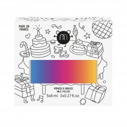 Vernis Isis - paillettes or rose